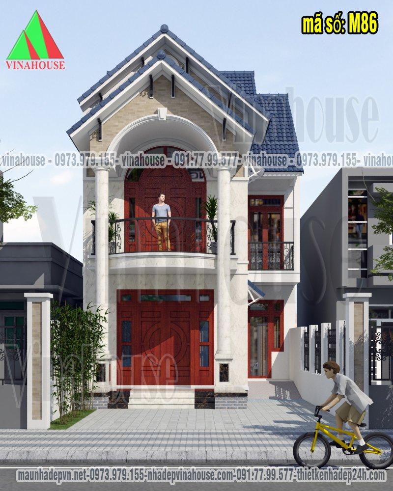 Nhà mái thái đẹp 2 tầng chữ L