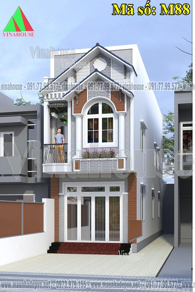 Nhà 2 tầng mặt tiền đẹp 4x17