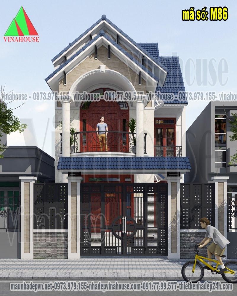 Nhà 2 tầng mái thái mặt tiền 7m