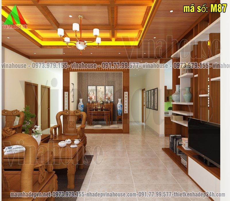 Phòng khách và phòng thờ nhà cấp 4