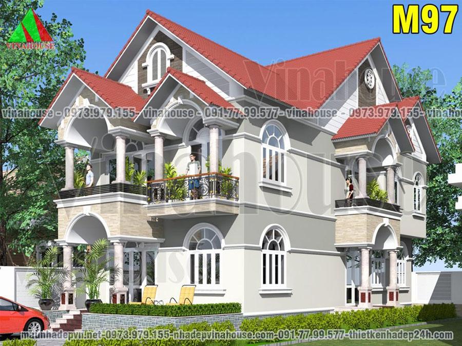 thiết kế biệt thự 2 tầng Tây Ninh M97
