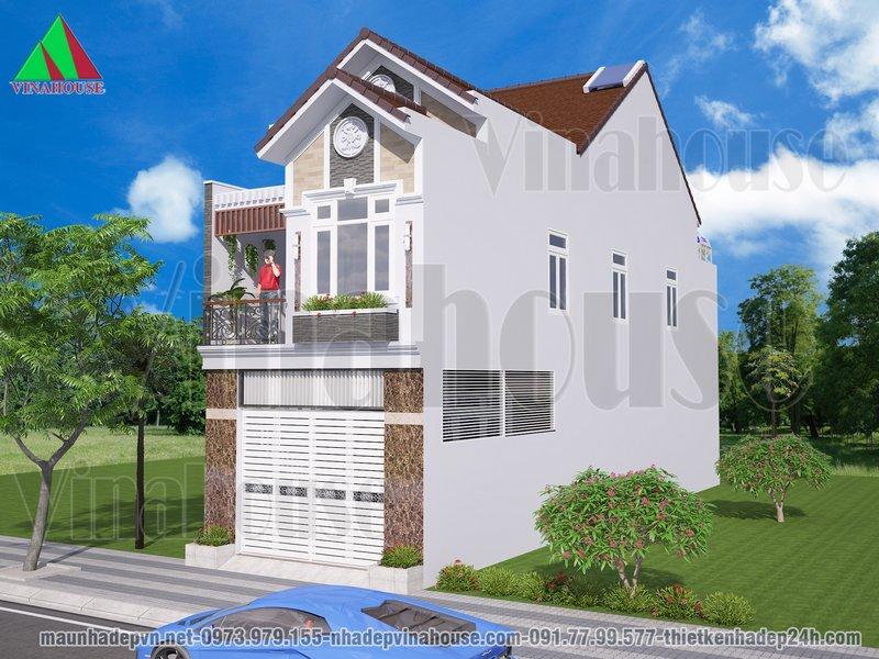 Nhà 2 tầng mái thái đẹp