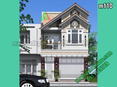 Mặt tiền mẫu thiết kế nhà 2 tầng 6x15m