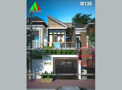 nhà 2 tầng đẹp ở long an M136