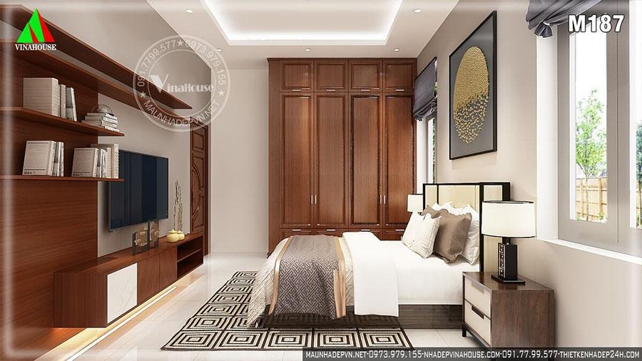 phòng ngủ biệt thự 2 tầng đẹp M187