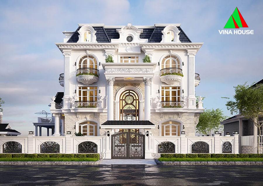 thiết kế biệt thự tân cổ điển tại An Giang