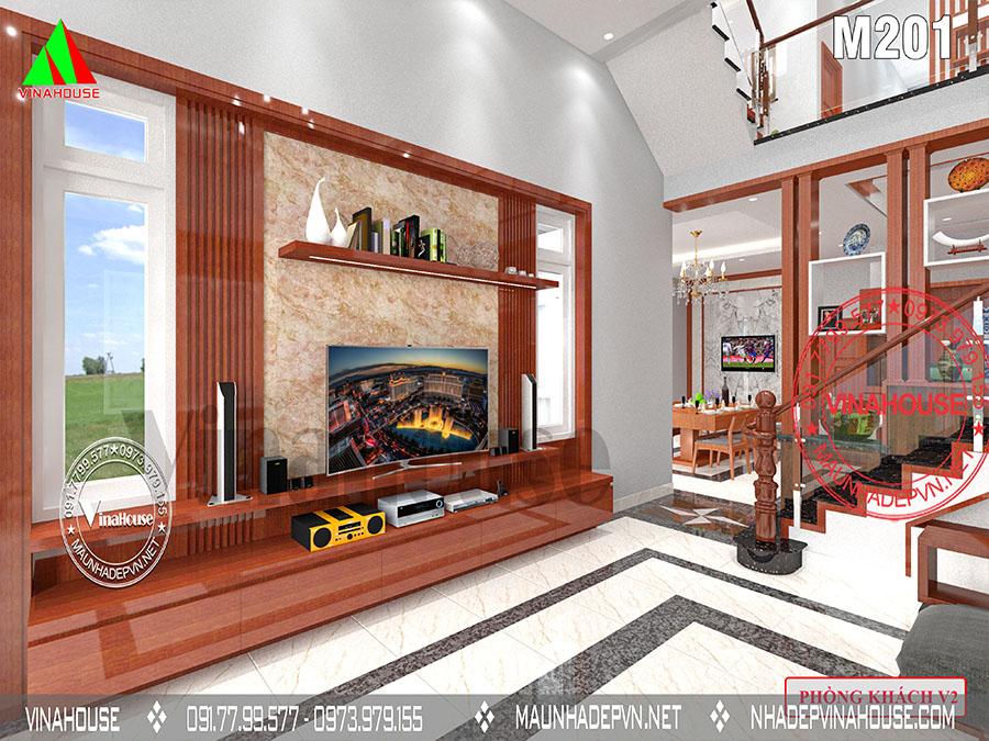 phòng khách nhà 2 tầng Biên Hòa M201