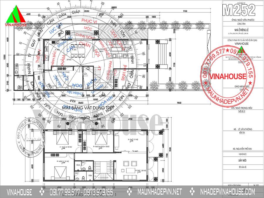 bản vẽ nhà cấp 4 mái thái đẹp M252