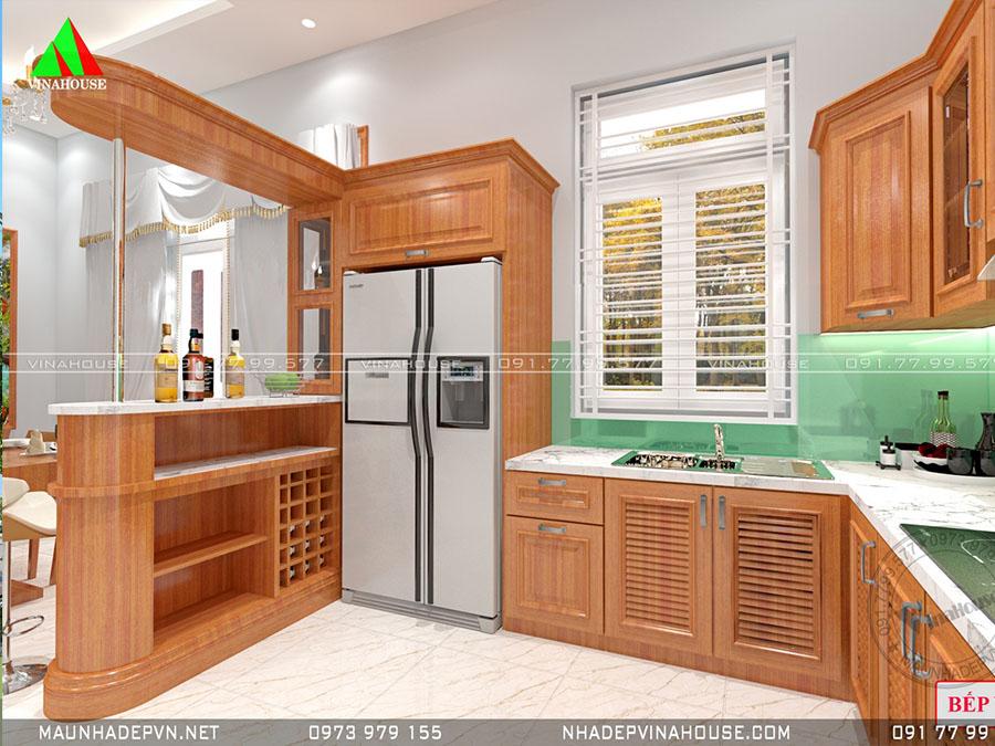 phòng bếp nhà cấp 4 mái thái nổi bật M252