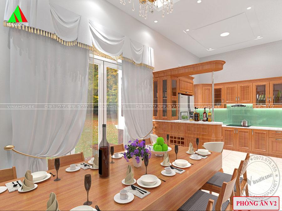 phòng ăn nhà cấp 4 mái thái nổi bật M252