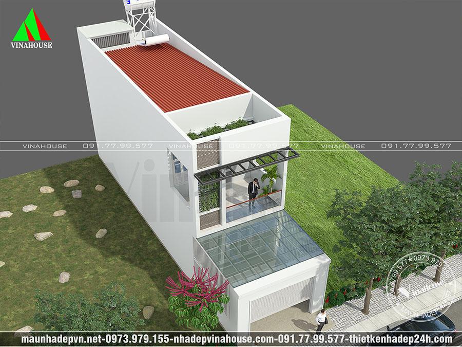 thiết kế nhà ống 2 tầng biên hòa M199