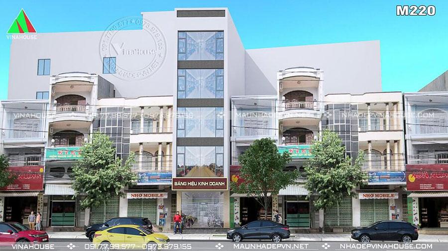 nhà phố 5 tầng ở Vùng Tàu nổi bật M220