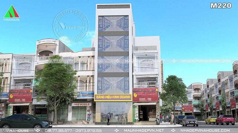 nhà phố 5 tầng ở Vùng Tàu đồ sộ M220