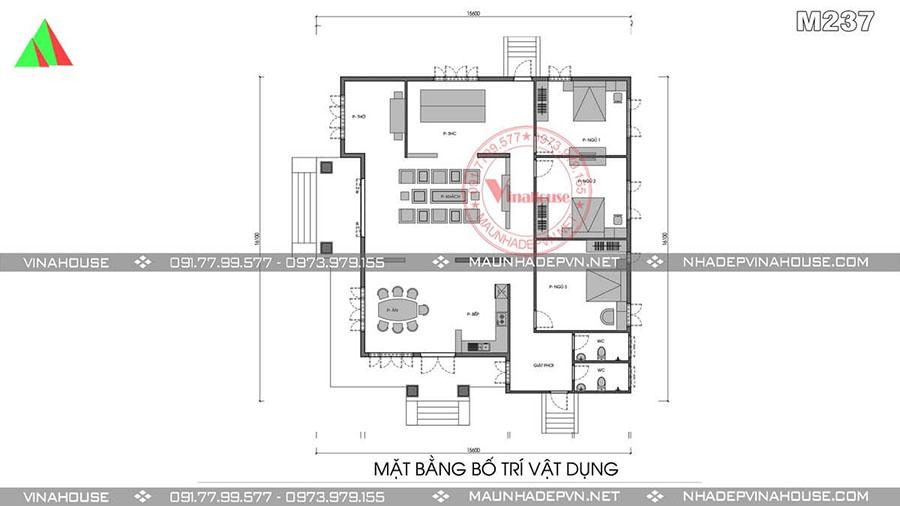 bản vẽ thiết kế biệt thự tại Bình Phước M237