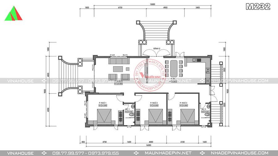 thiết kế biệt thự vườn sang trọng đồng nai M232