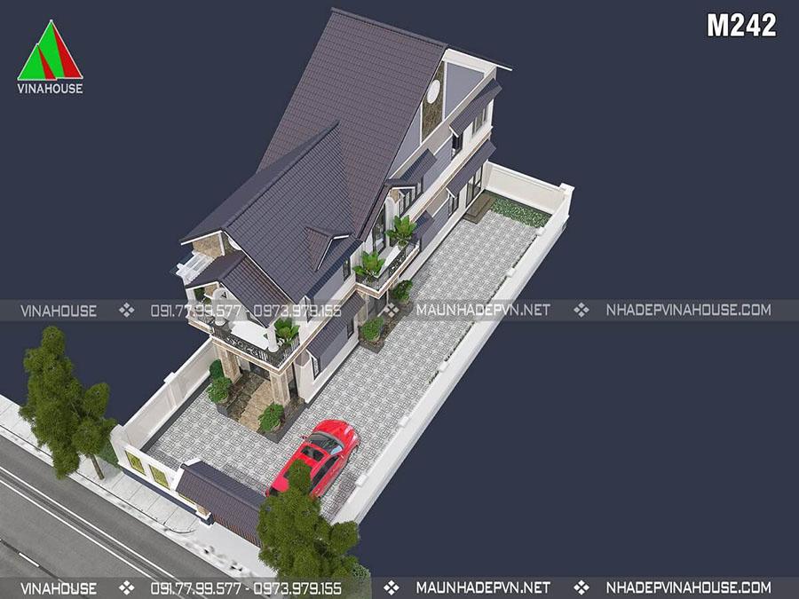 thiết kế nhà 1 trệt 1 lầu 5x18m