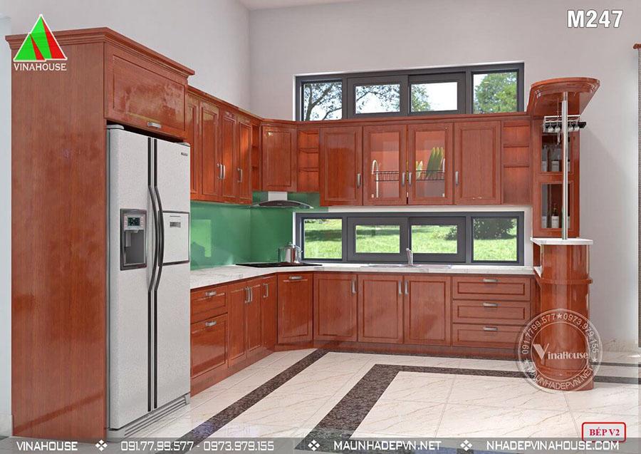 phòng bếp nhà cấp 4 bình dương M247 sang trọng