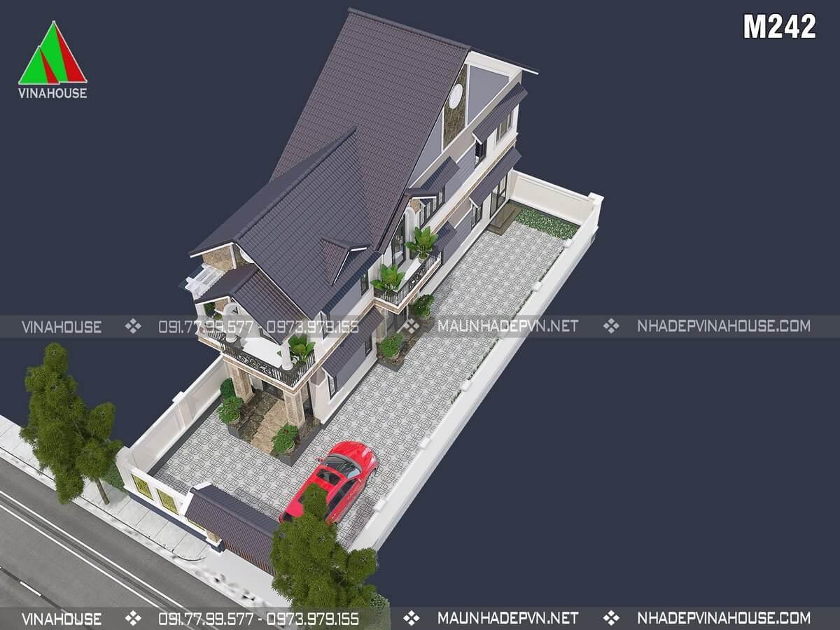 Chi phí xây dựng nhà mái thái 2 tầng 5x20
